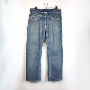 True Religion Button Pocket Straight Leg Jeans